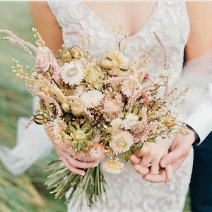 Kelly Fallon Dried Wedding bouquet