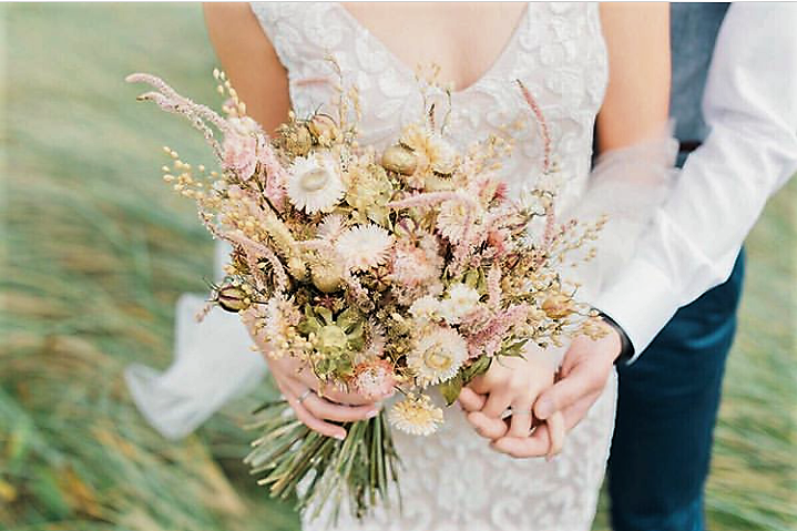 Dried flower wedding bouquet | Mad About Flowers